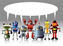 Carte de robot de dessin animé Images libres de droits