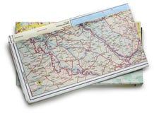 Carte de route Photos stock
