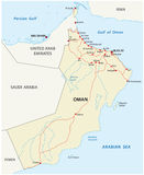 Carte de route de l'Oman illustration de vecteur