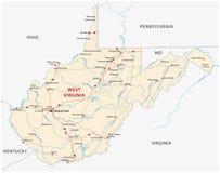 Carte de route de la Virginie Occidentale Photo libre de droits