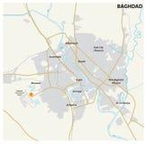 Carte de route de la capitale irakienne Bagdad illustration libre de droits