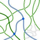 Carte de route sans joint Photo libre de droits