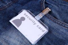 Carte de sécurité Photographie stock libre de droits