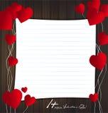 Carte de Saint-Valentin Photographie stock libre de droits