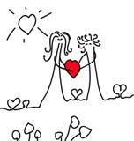 Carte de Saint-Valentin Images libres de droits