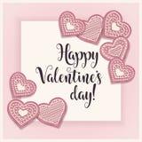 Carte de Saint-Valentin avec des biscuits de pik illustration stock
