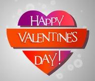 Carte de Saint Valentin avec le coeur Images stock