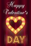 Carte de Saint-Valentin, avec les ampoules illustration libre de droits