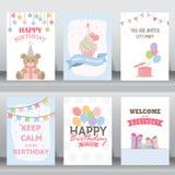 Carte de salutation et d'invitation de vacances illustration stock