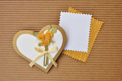 Carte de salutation ou d'invitation de coeur d'amour Photos stock