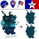 Carte de San Antonio avec des voisinages illustration libre de droits