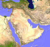 Carte de satellite de Moyen-Orient Images stock