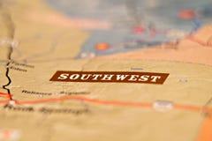 Carte de secteur d'emplacement de l'Amérique de sud-ouest Image libre de droits