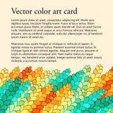 Carte de seigle de Spica, modèle de filigrane, fait main, coloré Image stock