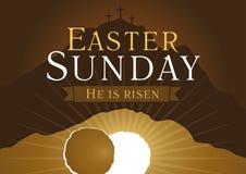 Carte de semaine sainte de dimanche de Pâques illustration stock