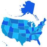 Carte de silhouette des Etats-Unis Photos libres de droits