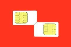 Carte de Sim Images libres de droits