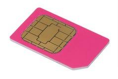 Carte de Sim pour le téléphone portable Images libres de droits