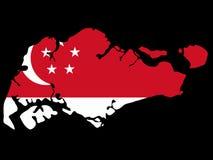 Carte de Singapour Image stock