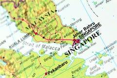 Carte de Singapour Photos libres de droits