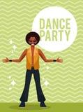 Carte de soirée dansante illustration libre de droits