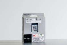 Carte de Sony XQD pour le matériel vidéo d'appareil-photo et de phot Photos libres de droits