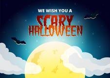 Carte de souhait de Halloween Photos libres de droits