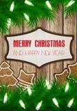 Carte de souhait de Noël Image libre de droits