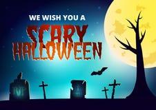 Carte de souhait de nuit de Halloween illustration libre de droits