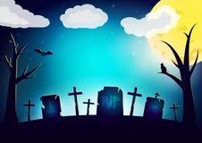 Carte de souhait de nuit de Halloween Image stock