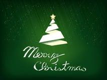Carte de souhait de papier de Noël Images stock