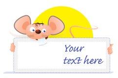 Carte de souris Photo stock