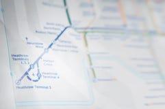 Carte de souterrain de Heathrow Image libre de droits