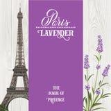 Carte de souvenir avec Tour Eiffel Images libres de droits