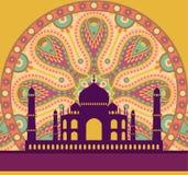 Carte de Taj Mahal illustration libre de droits