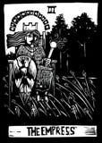 Carte de Tarot d'impératrice illustration de vecteur