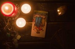 Carte de tarot Future lecture divination photo stock