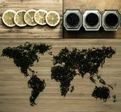 Carte de thé Photographie stock libre de droits
