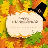 Carte de thanksgiving Image libre de droits