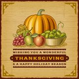 Carte de thanksgiving de vintage