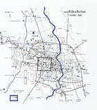 Carte de touriste de Chiang Mai Images libres de droits