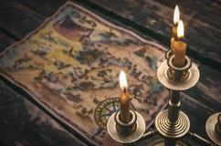Carte de trésor photos stock
