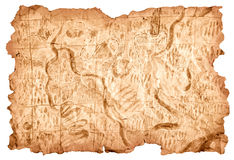 carte au trésor jaunie Carte de trésor image stock. Image du médiéval, topographie   26477845