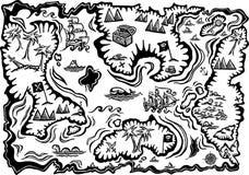 Carte de trésor Images stock