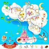 Carte de trésor de pirate – château de ciel Image libre de droits