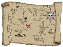 Carte de trésor de pirate Image stock