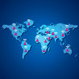 Carte de transmission de gens Image libre de droits
