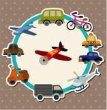 Carte de transport de dessin animé Images stock
