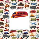 Carte de transport de dessin animé Image libre de droits