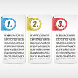 Carte de trois couleurs Photo stock